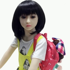 SEXDO 128CM Little Girl Flat Chest Cute  Primary School Student Real Love Doll Kaylie